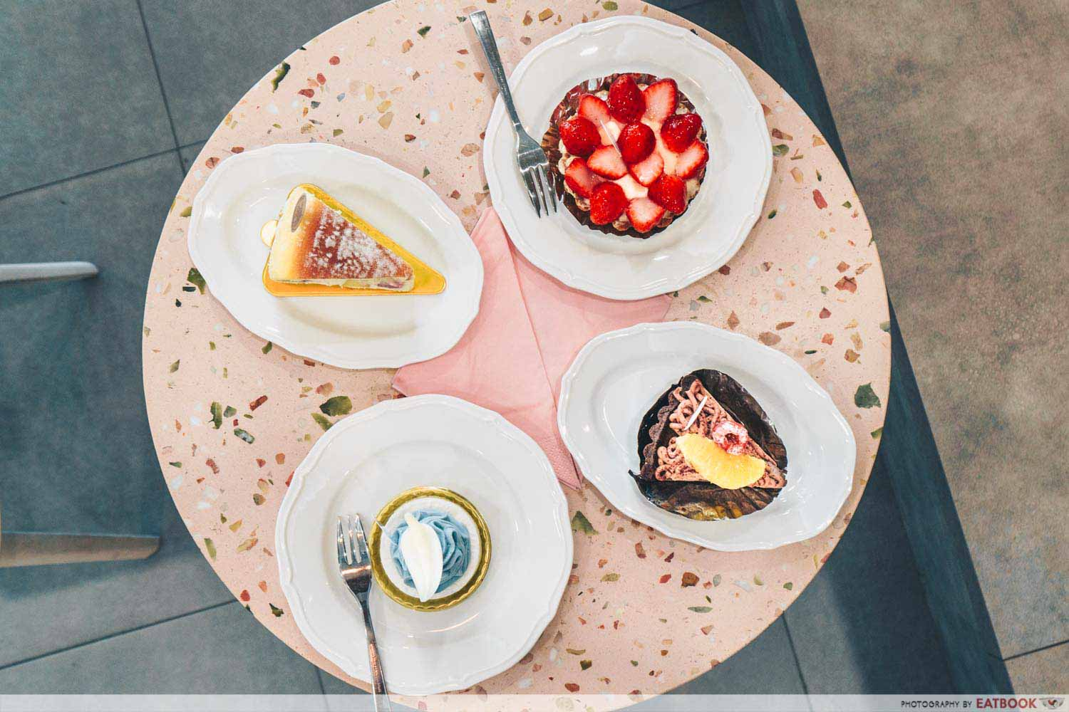 Flor Patisserie - flatlay of pastries