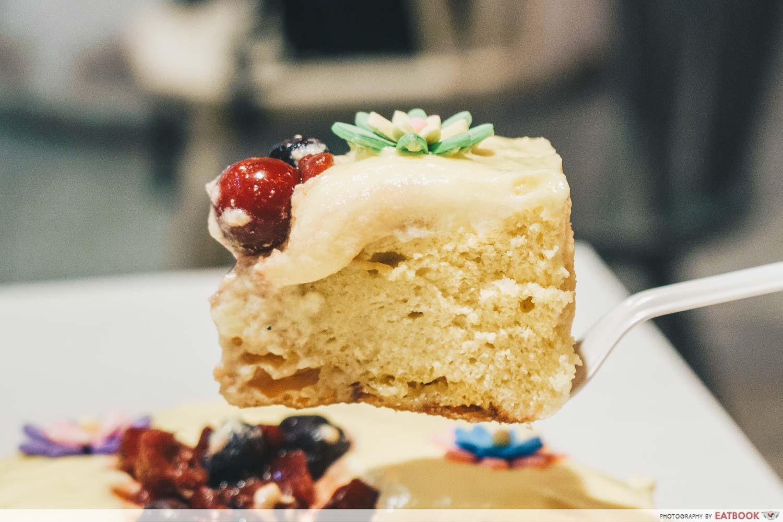 Half Ripe Castella Cake Slice