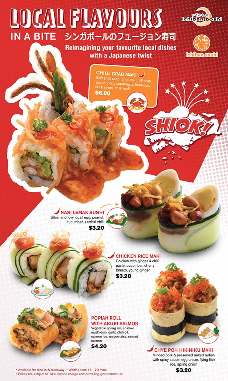 Ichiban sushi national day - menu