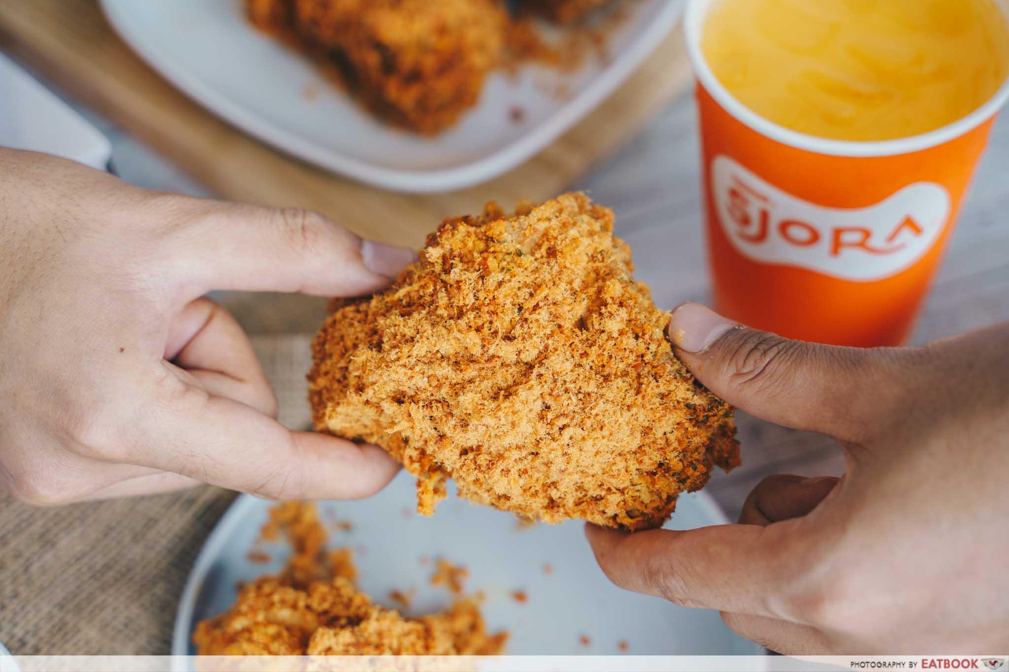 KFC Flossy Crunch Chicken - chicken floss topping