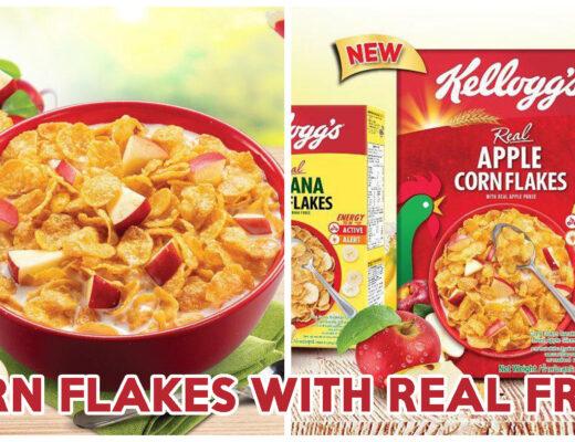 Kellogg's Real Fruit Apple Corn Flakes