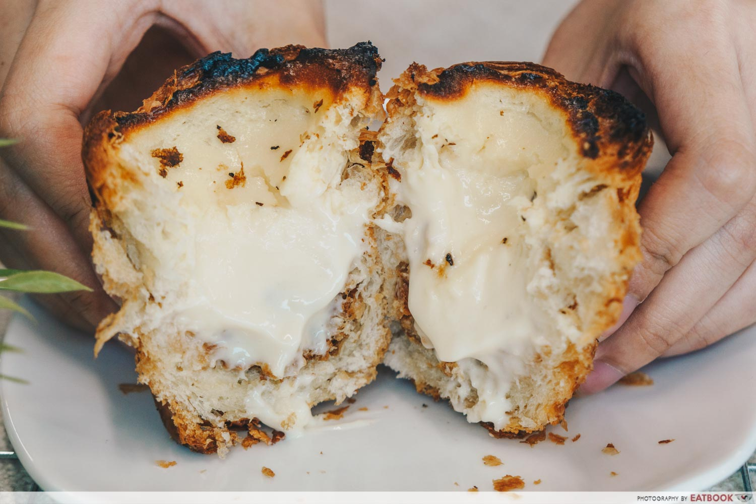 Keong Saik Bakery - burnt cheese cruffin cross section