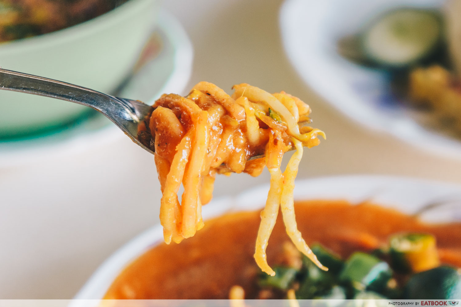 Latiffa Huri - mee rebus on spoon