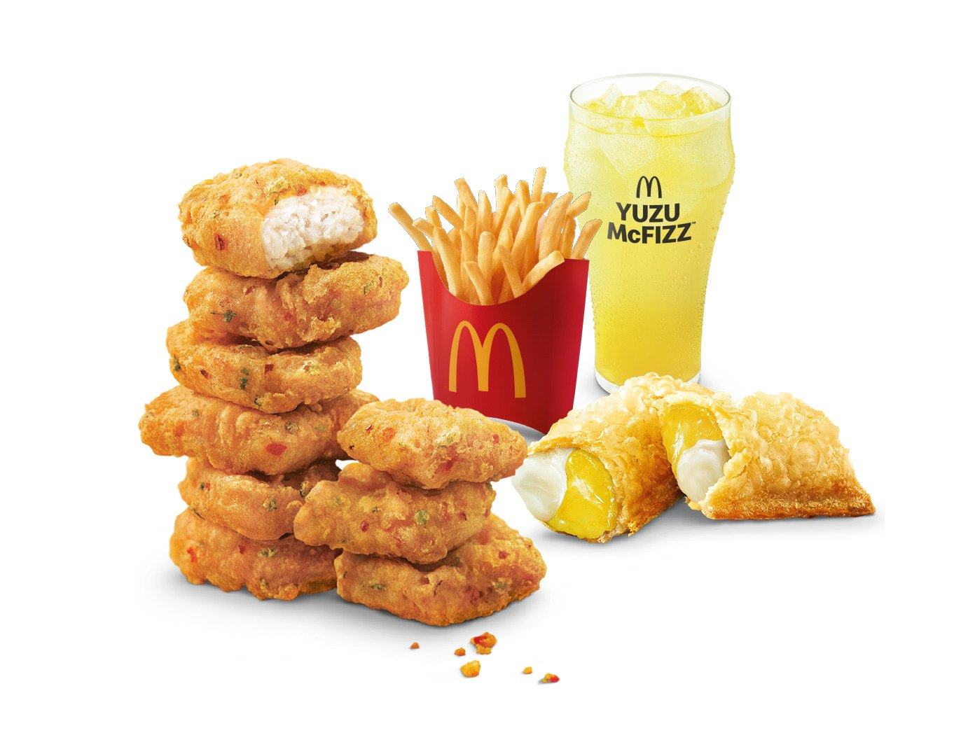 New Spicy Chicken McNuggets Feast