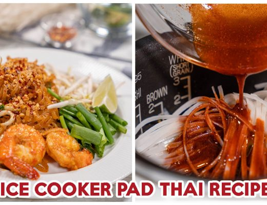 Rice cooker pad thai - feature image