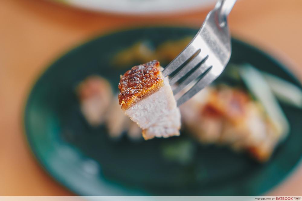 Roast pork crispy skin