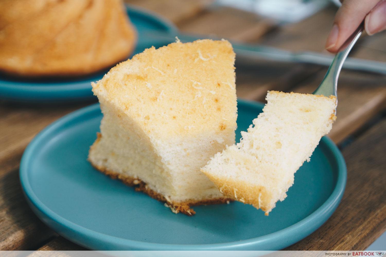 Yuzu Chiffon Cake Slice
