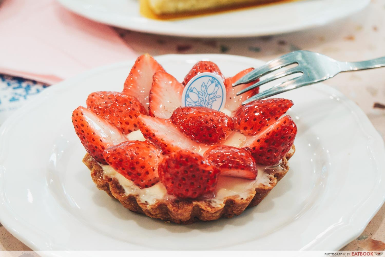 Flor Patisserie - yuzu strawberry tart