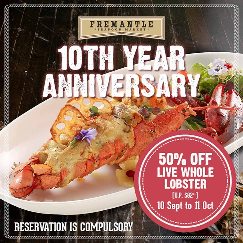fremantle seafood market - 50% off lobster dishes