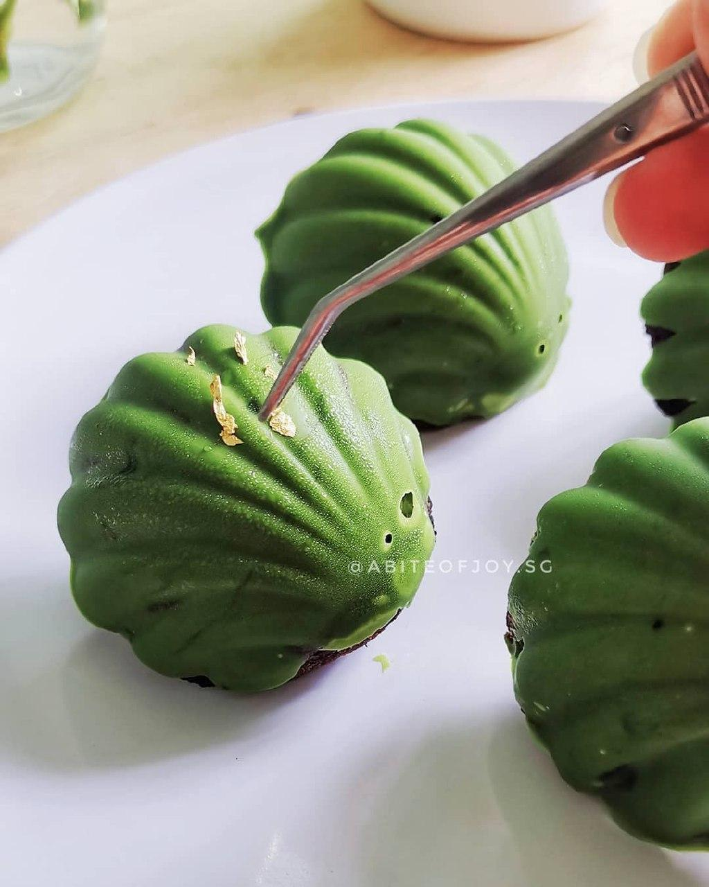 A Bite of Joy matcha madeleines