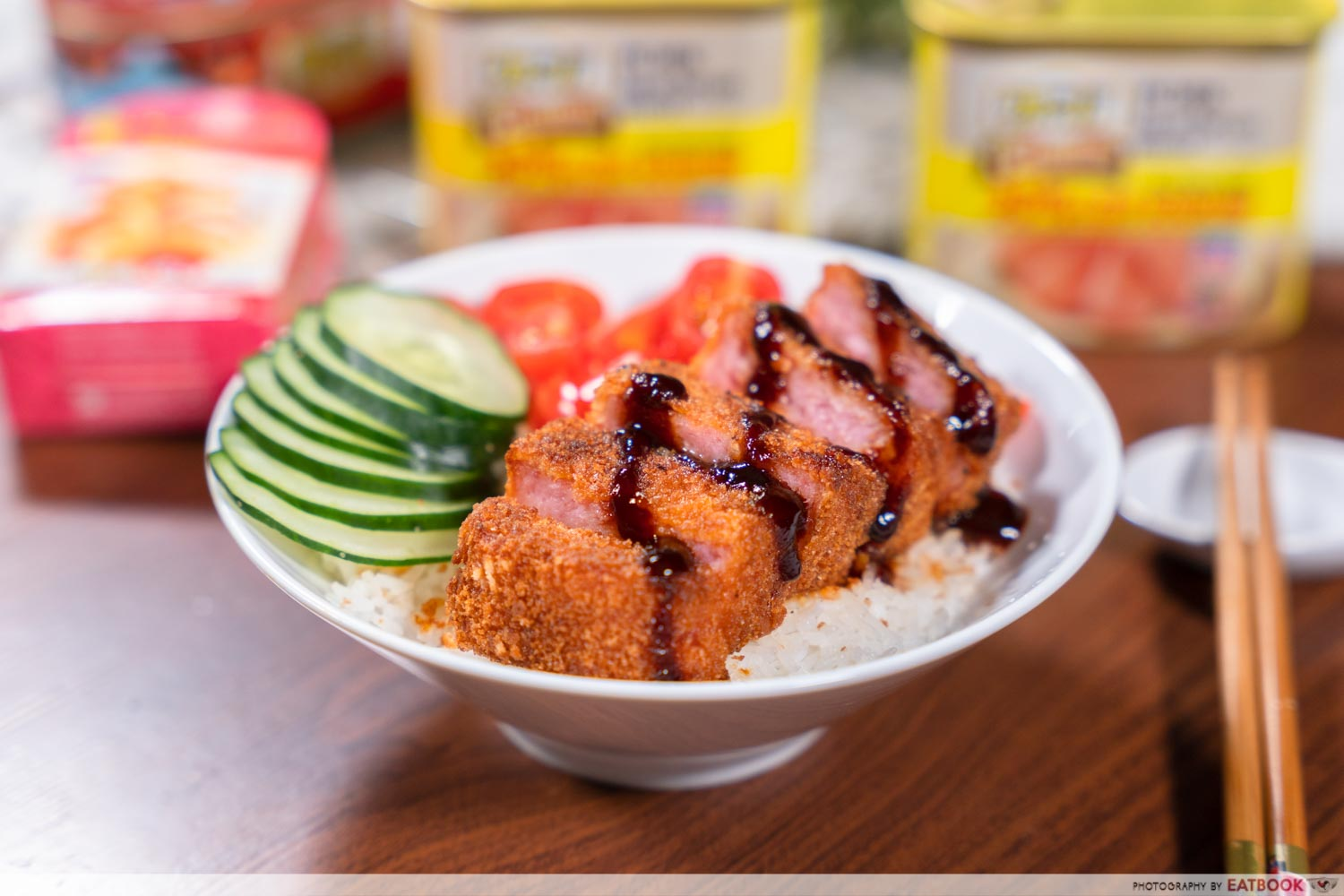 Canned food recipes - luncheon meat katsu don