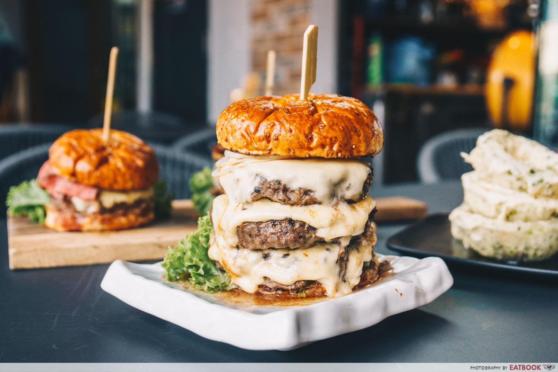 Wagyu Bites triple cheese burger