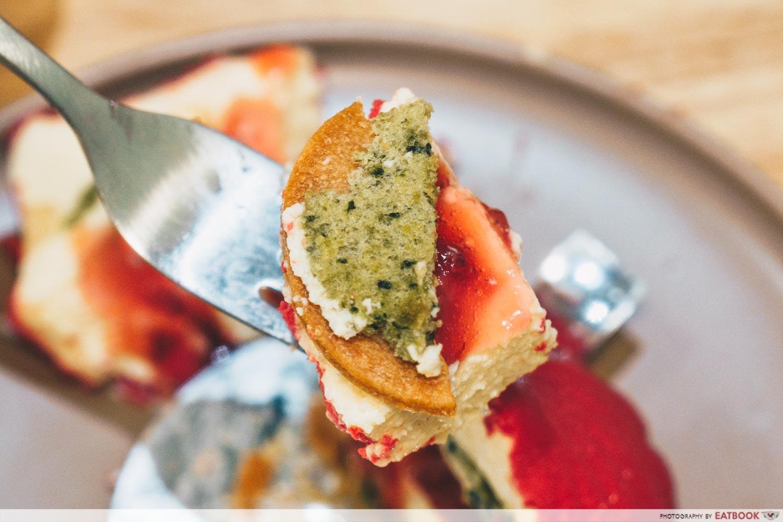 Dolc Patisserie - charlotte basil sponge