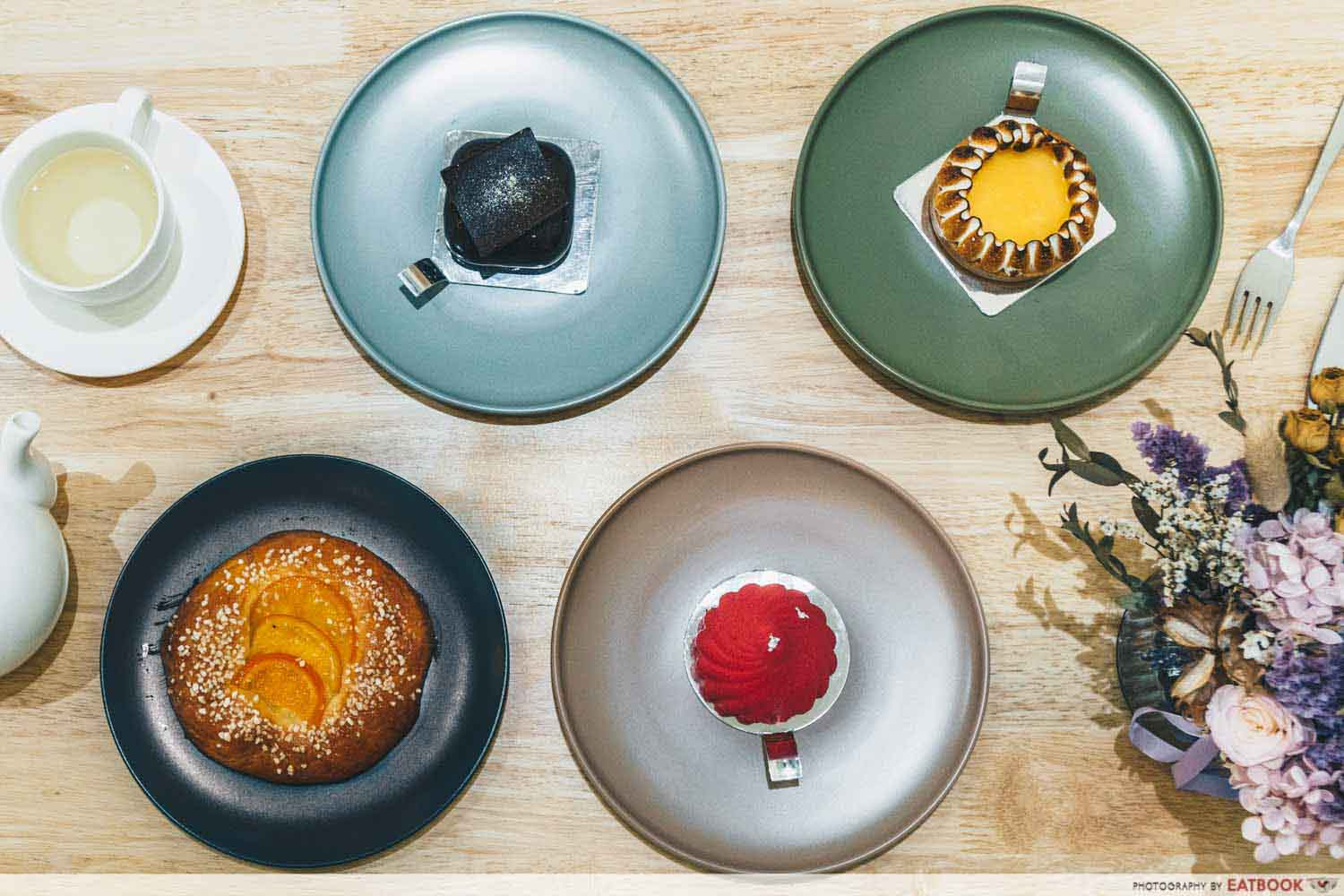 Dolc Patisserie - flatlay of pastries