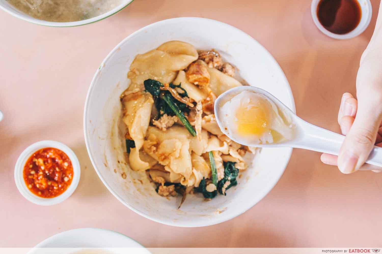 Dry Mee Hoon Kueh Egg
