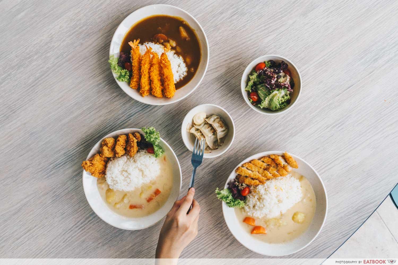 Kuroshiro - flatlay of food