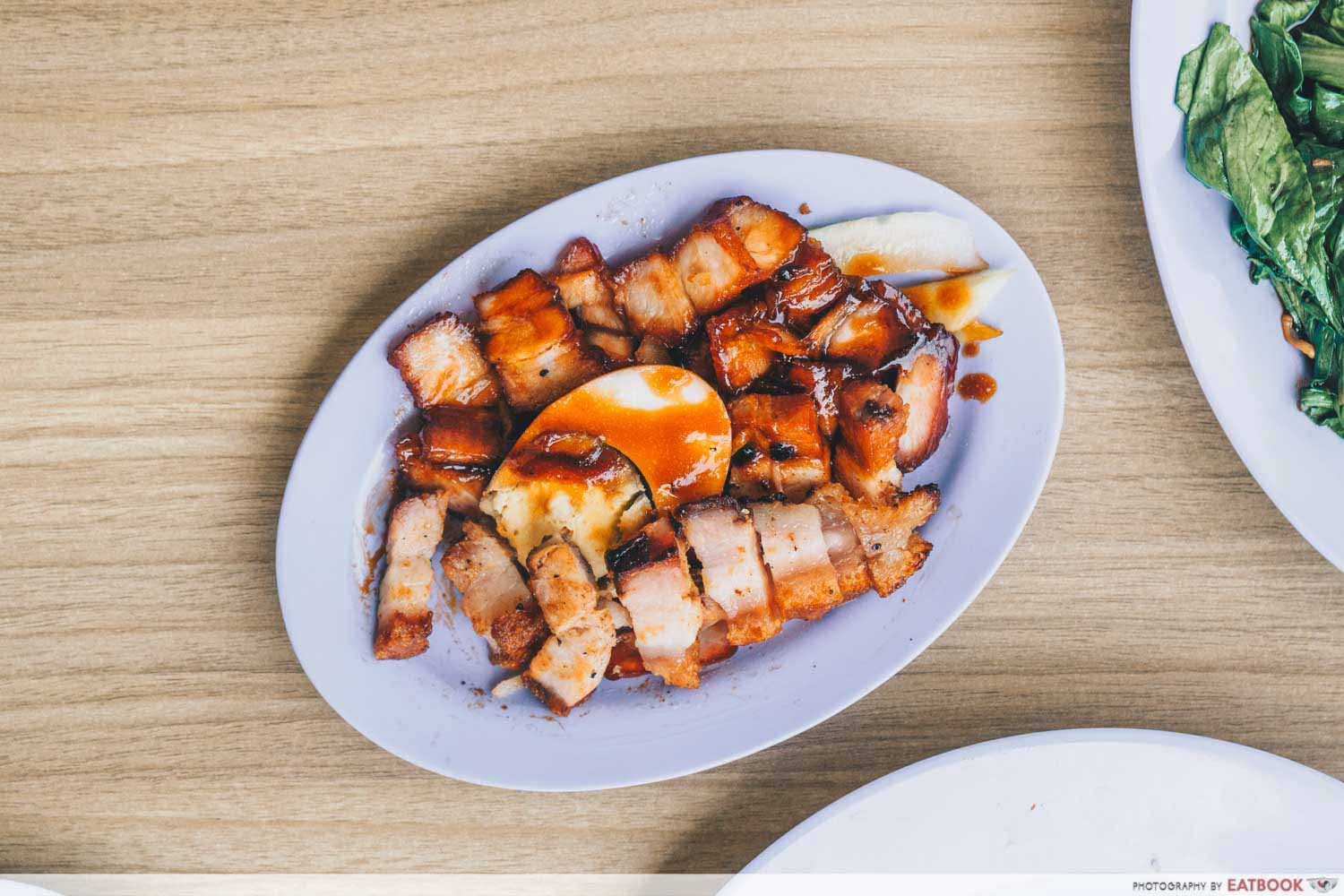 Le Da Chicken Rice - roasted pork and char siew