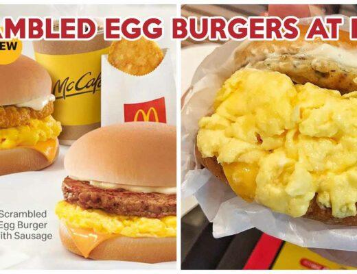 McDonald's Scrambled Egg Burgers