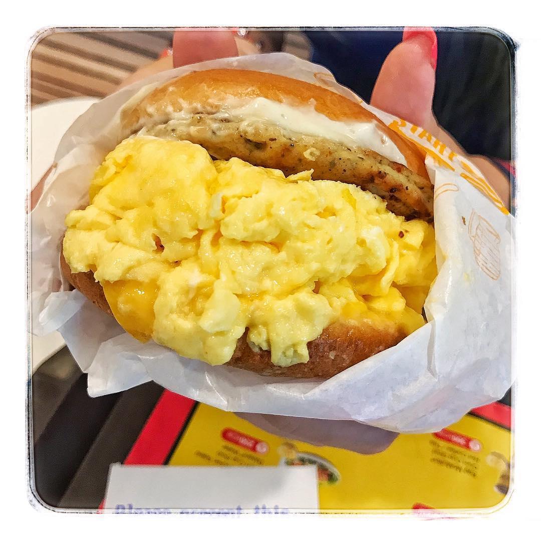 McDonald's Scrambled Egg Burger with Sausage
