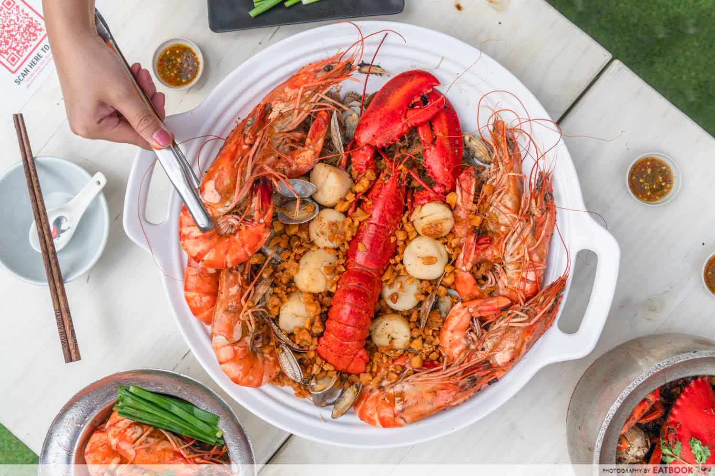 Shrimp Prawn Seafood - Seafood Vermicelli platter
