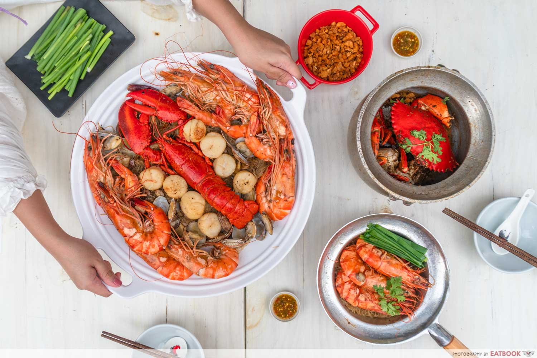 Shrimp Prawn Seafood - flatlay