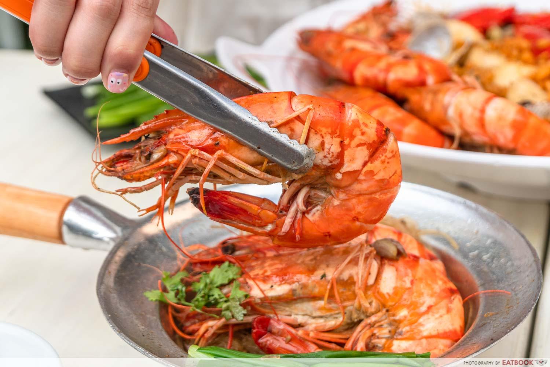 Shrimp Prawn Seafood - thai style seafood vermicelli