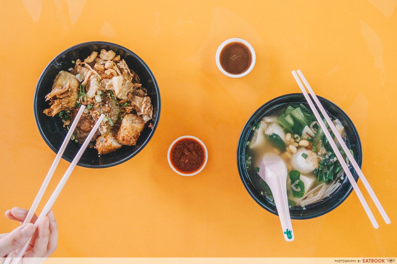 Tasty Soup Yong Tau Fu Flatlay