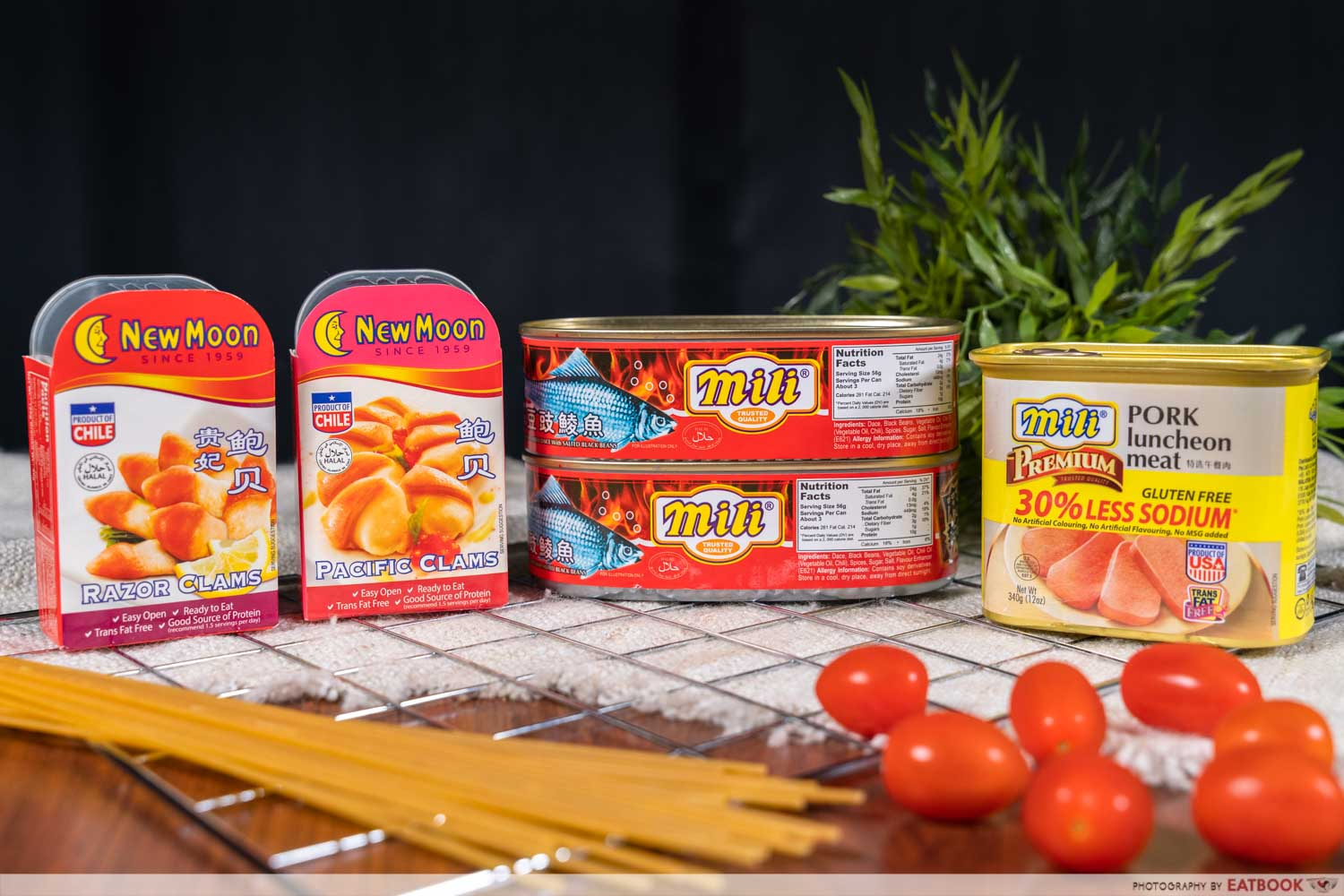 mili and new moon canned products