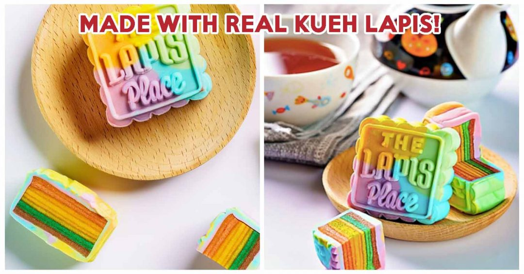 rainbow kueh lapis mooncake