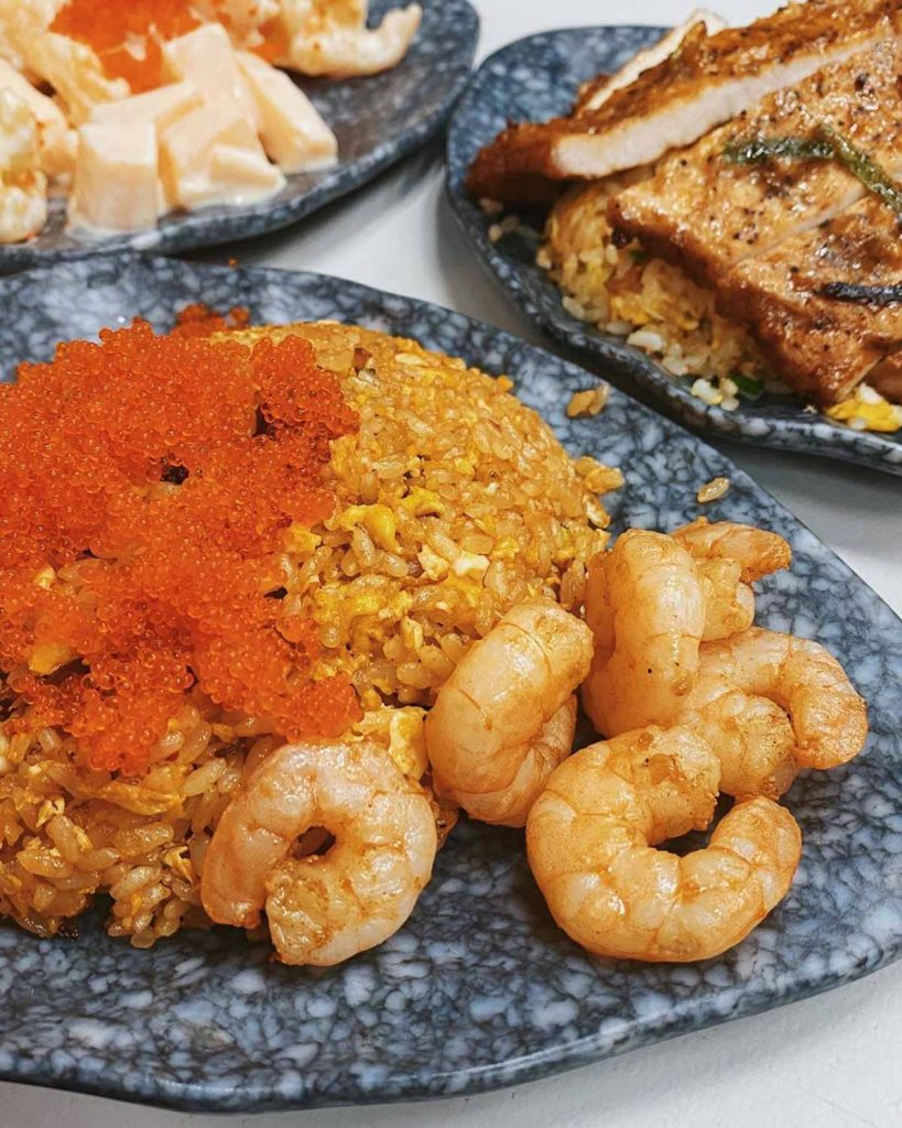 Sengkang King of Fried Rice - shrimp and tobiko egg fried rice