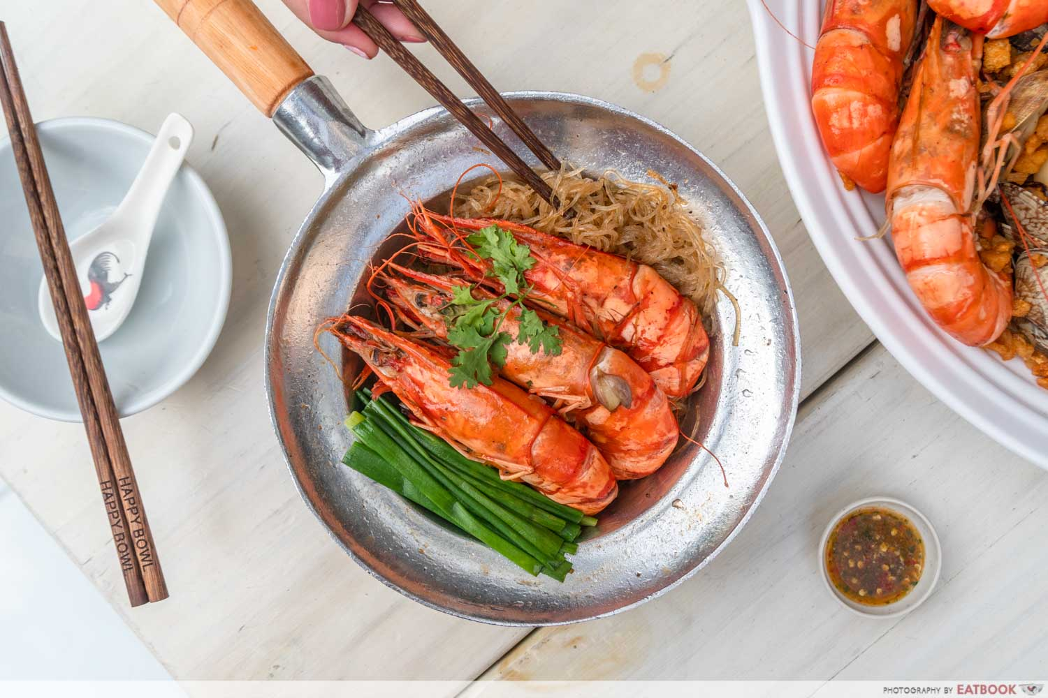 Shrimp Prawn Seafood - Steel Pot Prawn Vermicelli