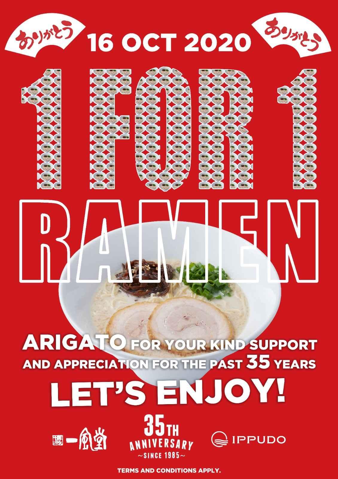 35th Anniversary 1-for-1 Ramen