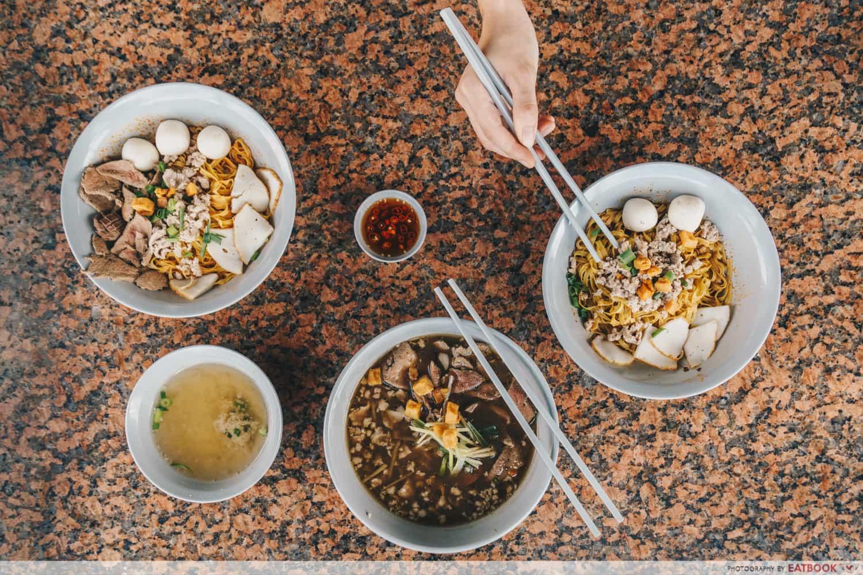 Shiok Shiok Noodles Flatlay