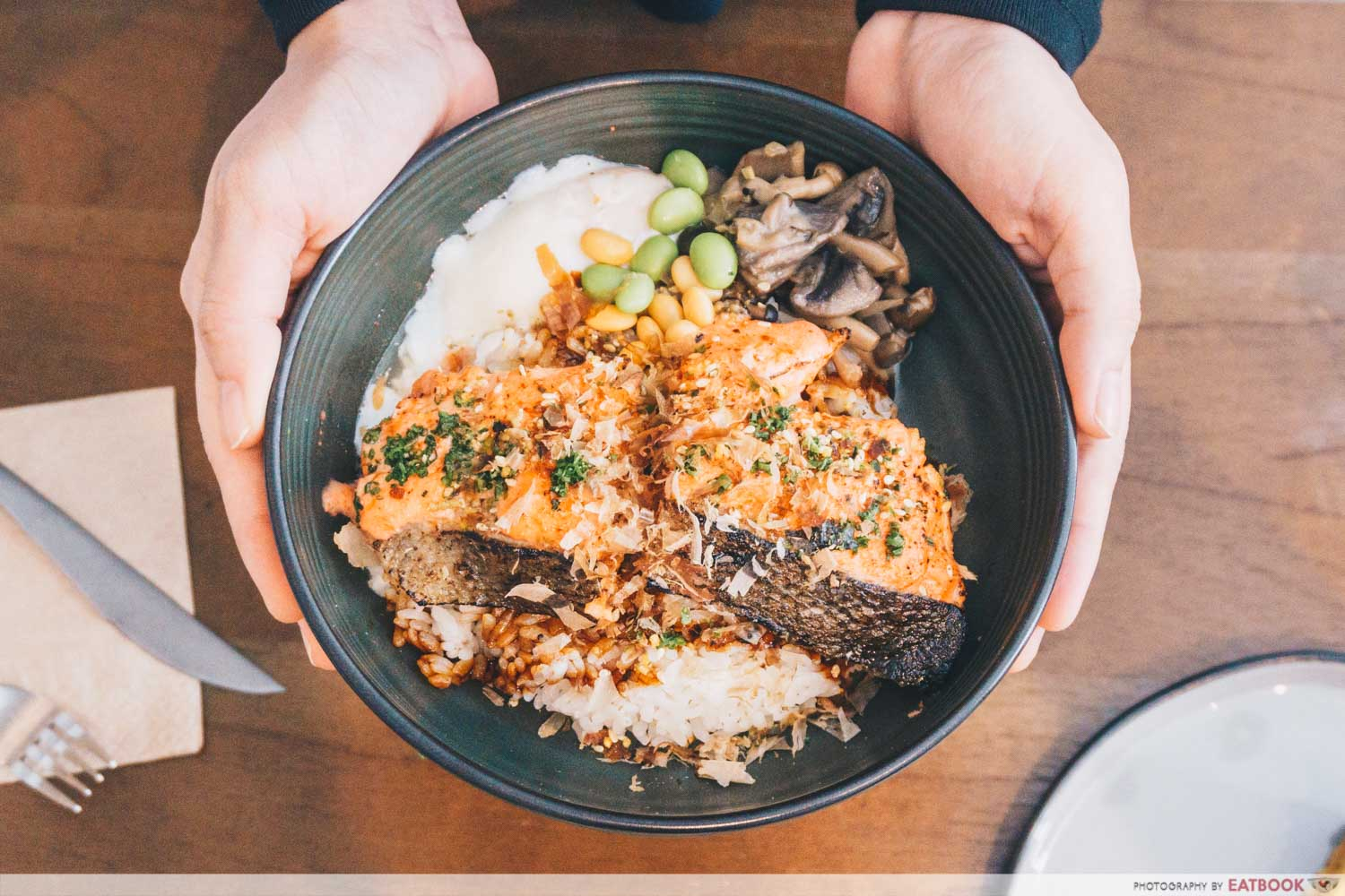 Torched Mentaiko Salmon Rice Bowl