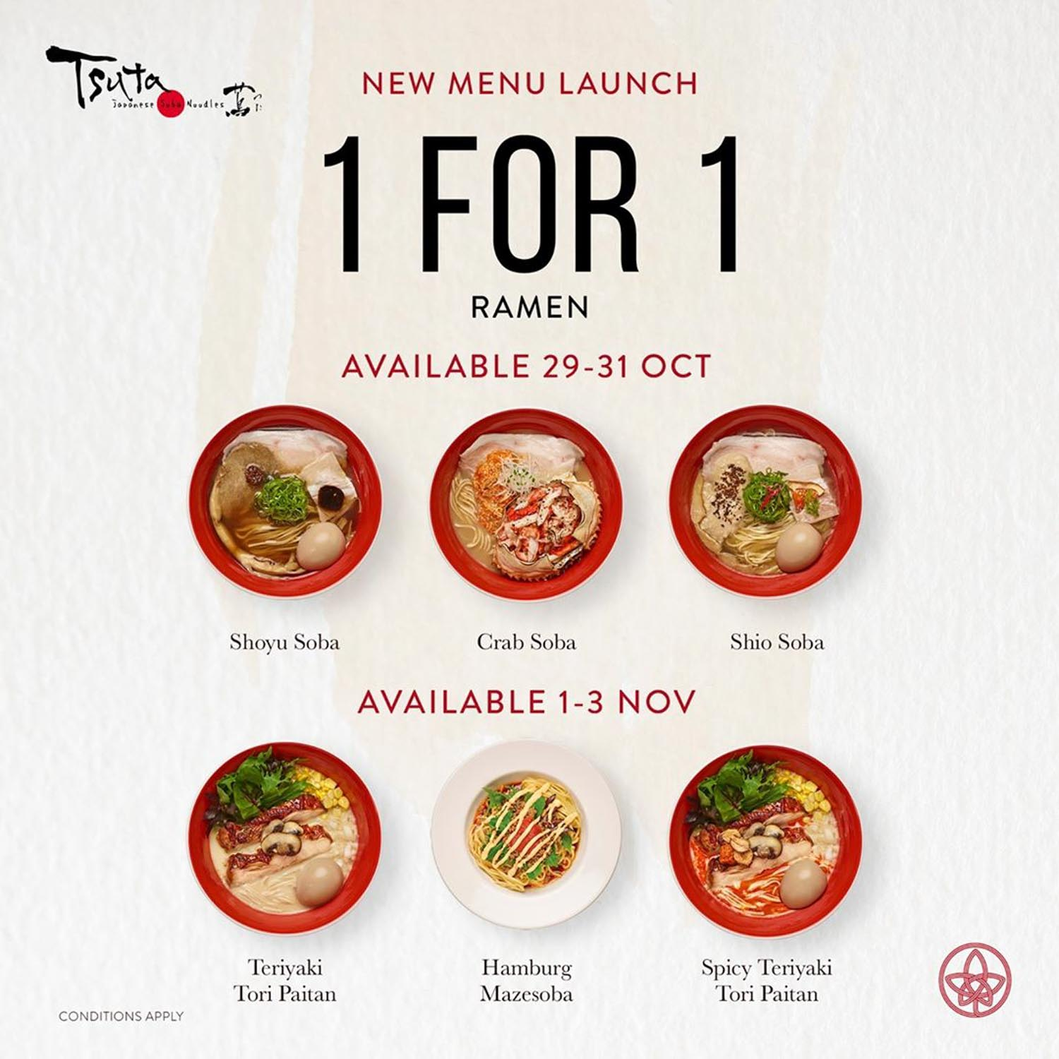 Tsuta New Menu - 1-for-1