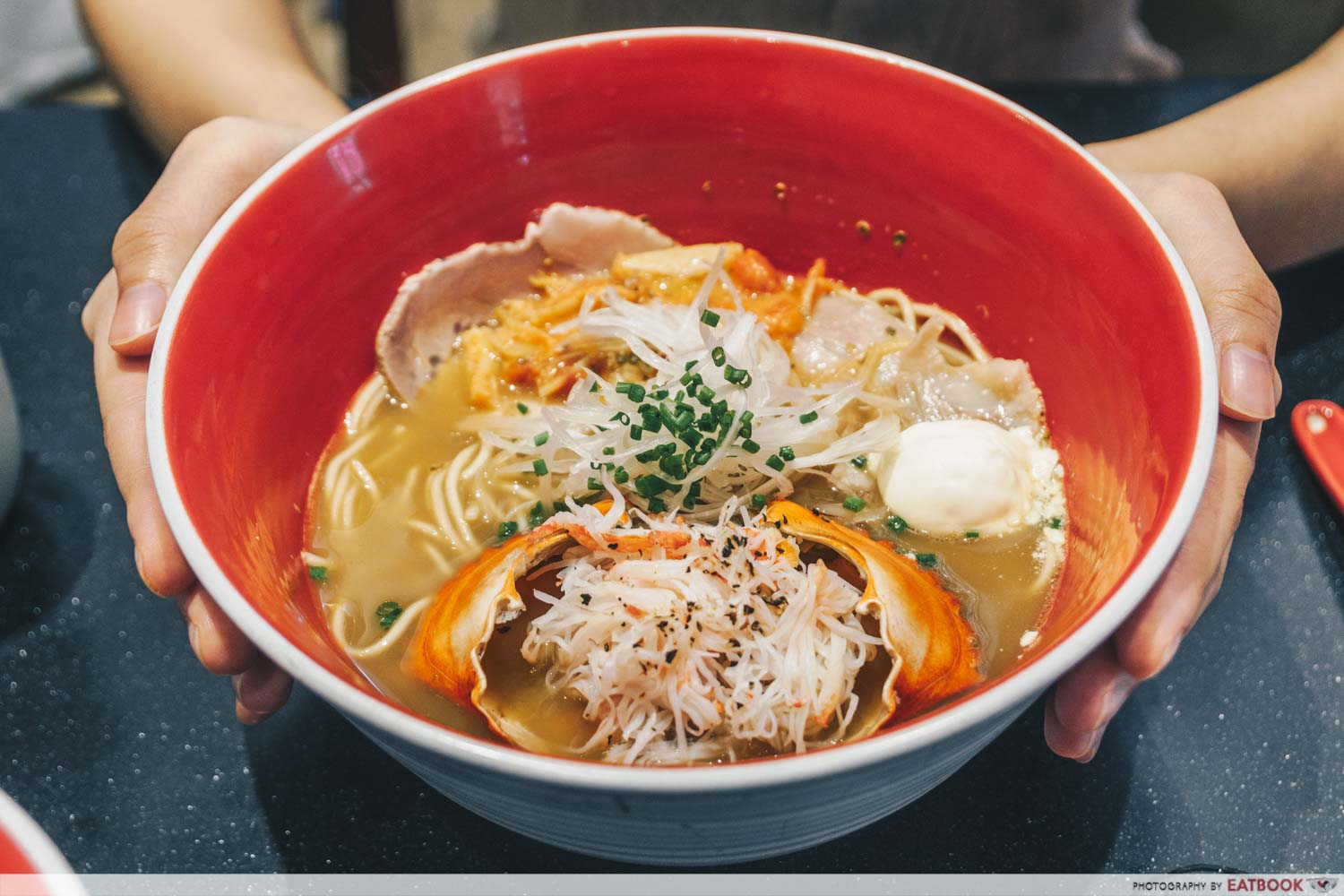 Tsuta New Menu - crab soba with premium char siu and crab shell