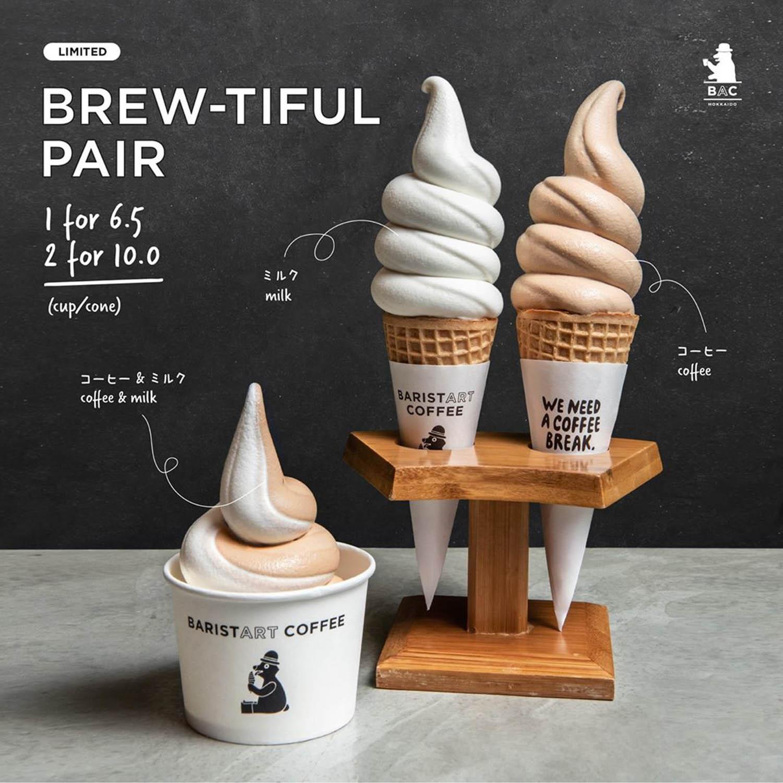 baristart coffee soft serve - new coffee and milk softcreams