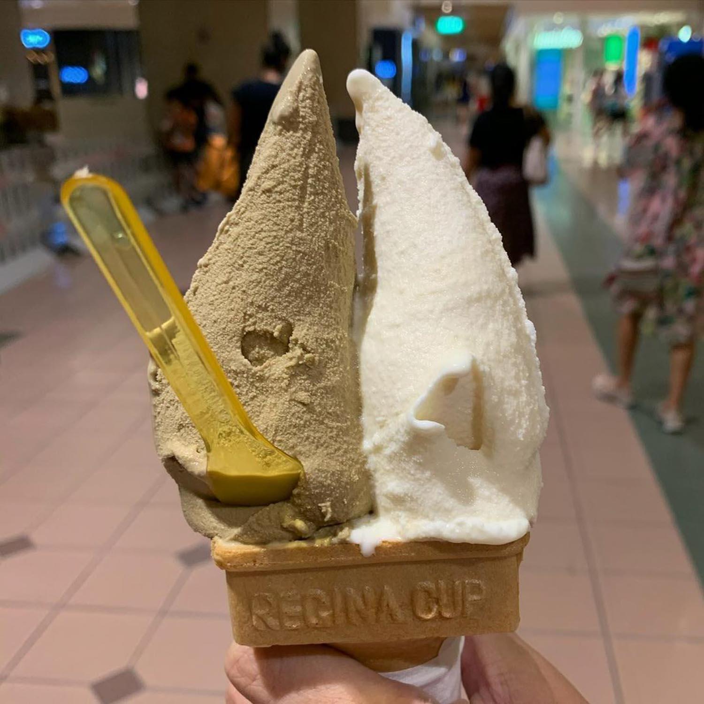 melon pan ice cream - azabu sabo double cone
