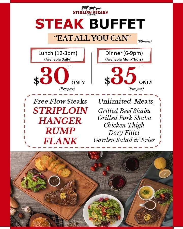 stirling steaks buffet
