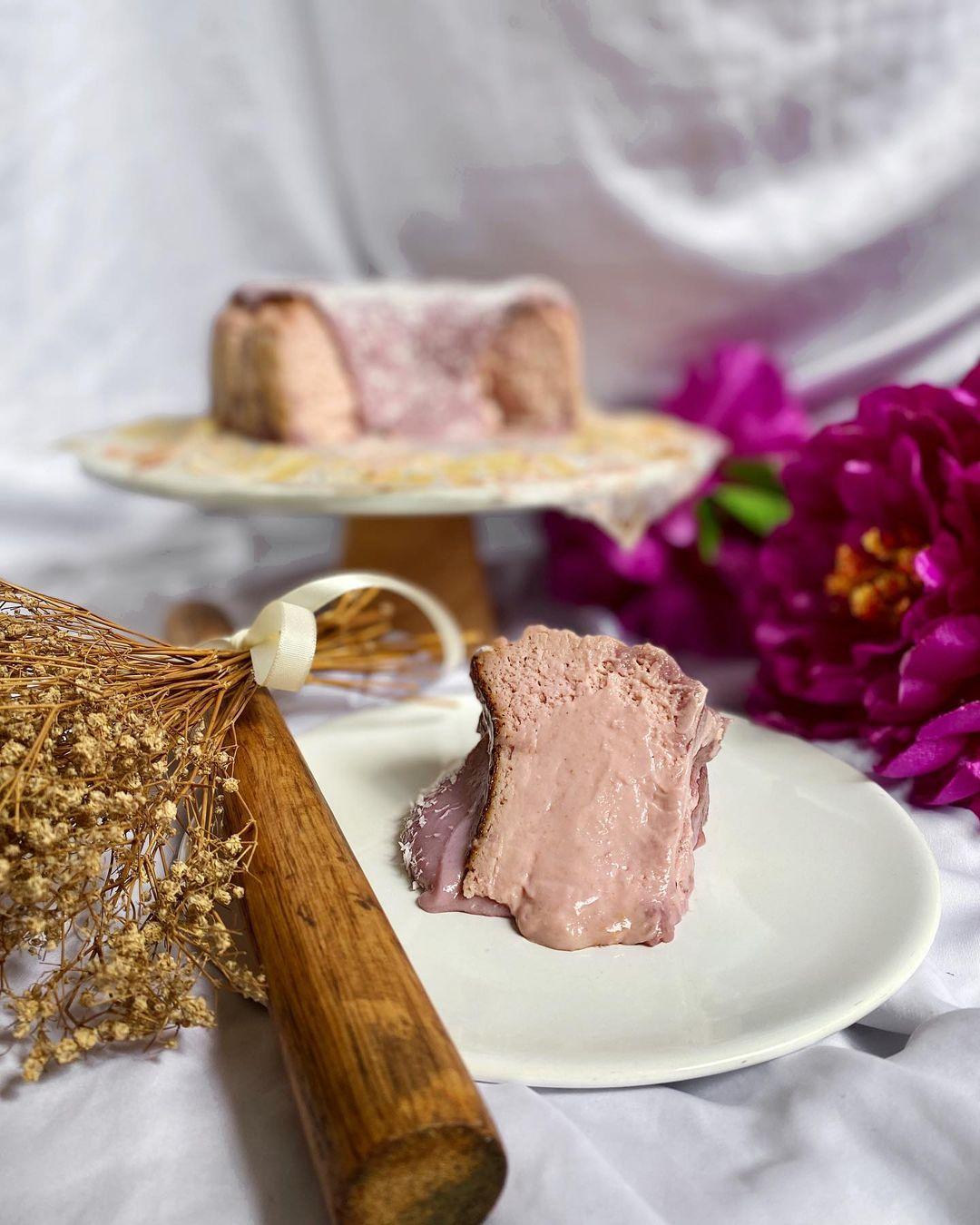 taro burnt cheesecake