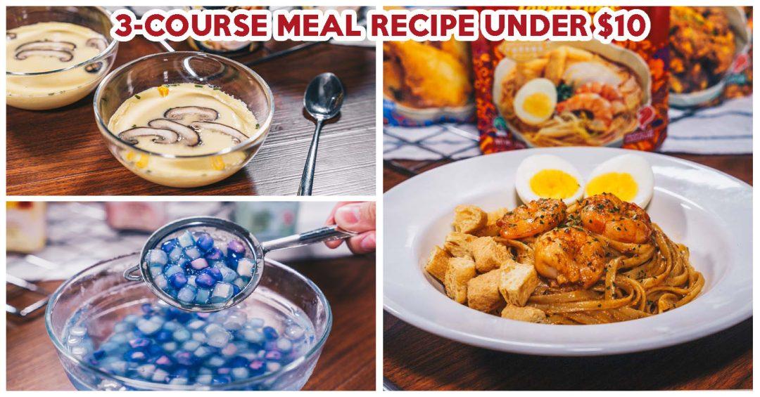 3-course meal reciepe - feature image