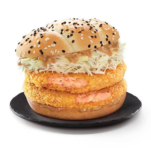 McDonald's Hokkaido Salmon Burger Double