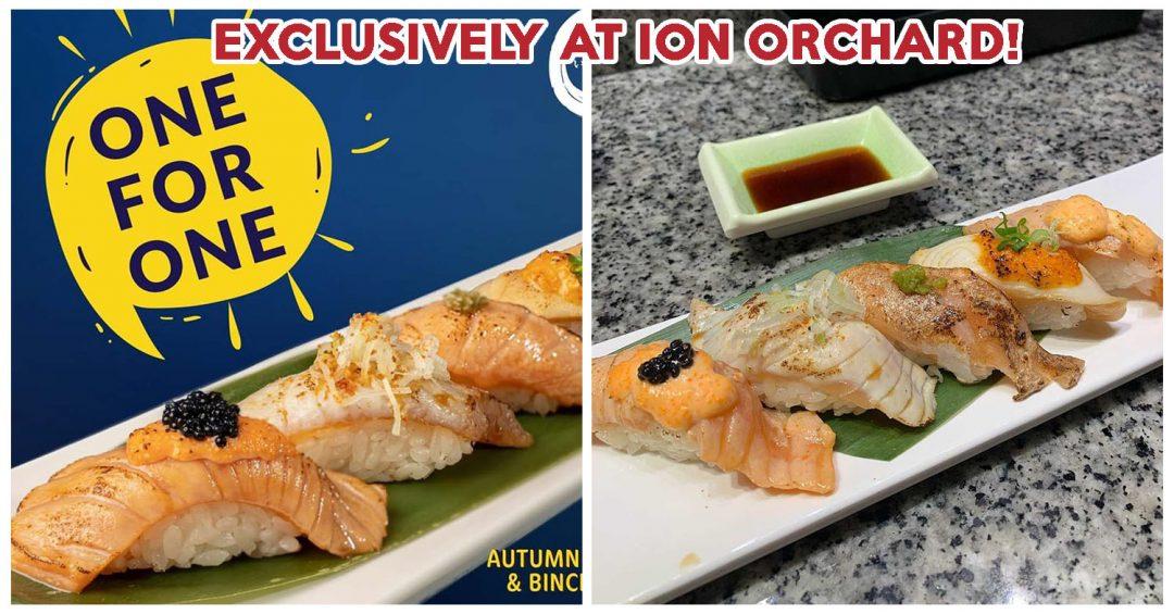 itacho 1 for 1 salmon sushi