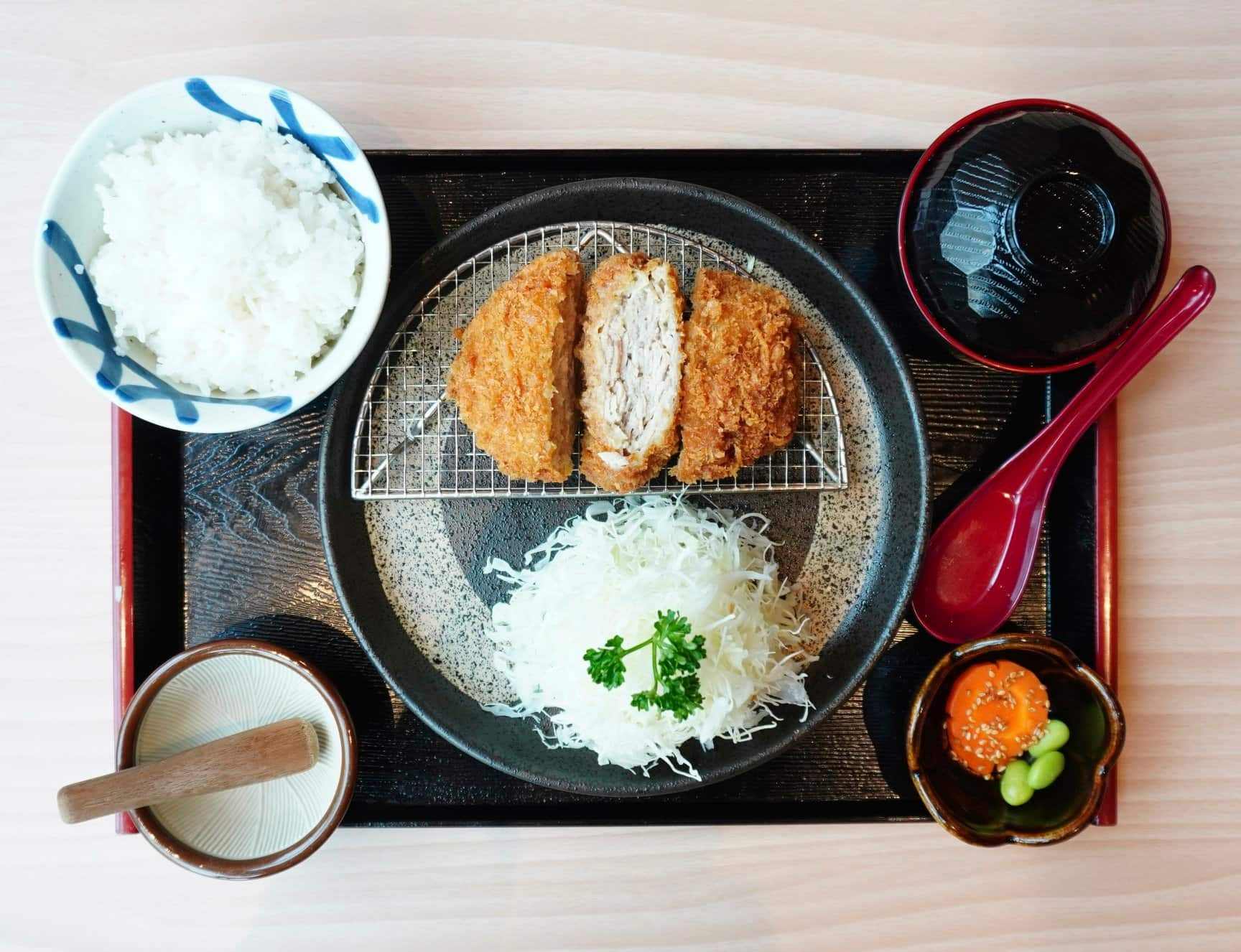 Kimukatsu Set with Rice (1)
