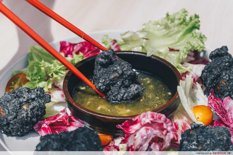 charcoal karaage