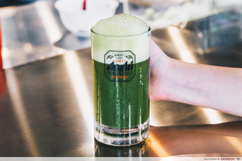 kyoto matcha beer menbaka