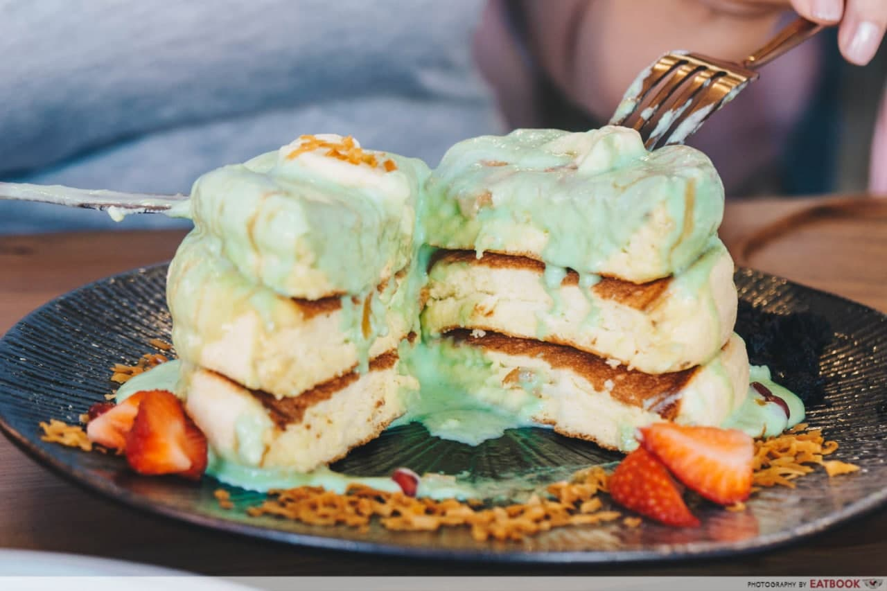 Kaya Pandan Souffle Pancake