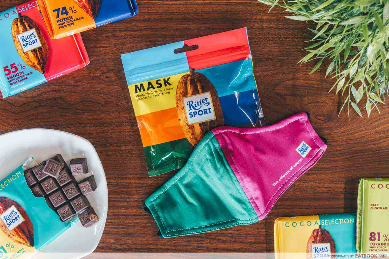 Ritter Sport - two tone mask