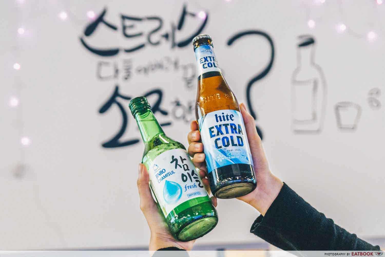 soju and beer