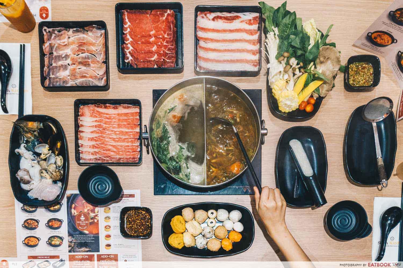 Suki Suki Thai Hot Pot - flatlay